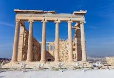 Το Erechtheum από την ανατολή, ακρόπολη, Ελλάδα Στοκ εικόνες με δικαίωμα ελεύθερης χρήσης