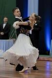 Το Ermolovich Konstantin και Snegir Anna εκτελεί το τυποποιημένο πρόγραμμα νεολαία-2 για το εθνικό πρωτάθλημα Στοκ φωτογραφίες με δικαίωμα ελεύθερης χρήσης