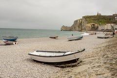 Το Etretat, υπόστεγο της Γαλλίας d'Albatre (αλαβάστρινη ακτή) είναι μέρος Στοκ εικόνα με δικαίωμα ελεύθερης χρήσης