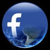Το Facebook καταλαμβάνει τον κόσμο Στοκ φωτογραφία με δικαίωμα ελεύθερης χρήσης