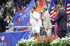 Το Federer Ρότζερ ΗΠΑ ανοίγει το 2015 (118) Στοκ Φωτογραφία