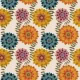 Το Floral άνευ ραφής σχέδιο πτώσης, ζωηρόχρωμος ρομαντικός Floral υποβάθρου σχεδίων επιφάνειας λουλουδιών φθινοπώρου επαναλαμβάνε απεικόνιση αποθεμάτων