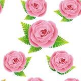 Το Floral σχέδιο με αυξήθηκε Στοκ εικόνες με δικαίωμα ελεύθερης χρήσης