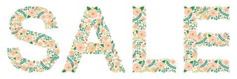 Το Flowery Word - ΠΩΛΗΣΗ - Peonies Στοκ Εικόνες