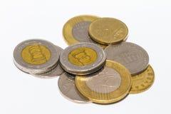 Το forint σημάδι: FT  κώδικας: Το HUF είναι το νόμισμα της Ουγγαρίας Νομίσματα στο απομονωμένο άσπρο υπόβαθρο Στοκ εικόνα με δικαίωμα ελεύθερης χρήσης