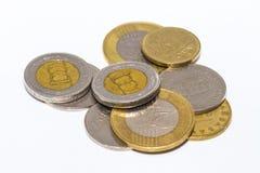 Το forint σημάδι: FT  κώδικας: Το HUF είναι το νόμισμα της Ουγγαρίας Νομίσματα στο απομονωμένο άσπρο υπόβαθρο Στοκ Εικόνα