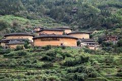 Το Fujian Tulou, η κινεζική αγροτική χωμάτινη κατοικία μοναδική στη μειονότητα Hakka στην επαρχία Fujian στην Κίνα στοκ εικόνα με δικαίωμα ελεύθερης χρήσης