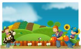Το funfair - παιδική χαρά για τα παιδιά Στοκ Εικόνα
