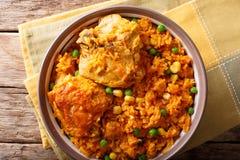 Το Galinhada είναι η βραζιλιάνα εκδοχή του κοτόπουλου pollo arroz con Στοκ Φωτογραφία