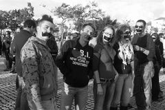 το geracao διαμαρτύρεται το rasca Στοκ εικόνες με δικαίωμα ελεύθερης χρήσης
