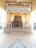 Το Girraj mukharvind Shri υποκρίνεται Radhakund στοκ εικόνα