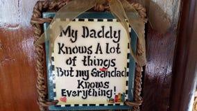 Το Grandpa ξέρει όλα Στοκ Εικόνα