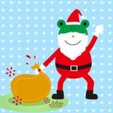 Το grandpa Χριστουγέννων βατράχων Στοκ εικόνα με δικαίωμα ελεύθερης χρήσης