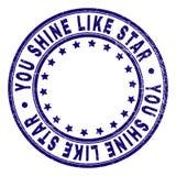 Το Grunge κατασκευασμένο ΕΣΕΙΣ ΛΑΜΠΕΙ ΟΠΩΣ το STAR γύρω από τη σφραγίδα γραμματοσήμων ελεύθερη απεικόνιση δικαιώματος