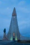 Το Hallgrimskirkja, μια λουθηρανική εκκλησία στο κέντρο του Ρέικιαβικ Στοκ φωτογραφίες με δικαίωμα ελεύθερης χρήσης