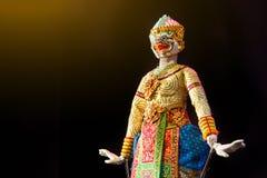 Το Hanuman είναι ένας από τους χαρακτήρες στο ταϊλανδικό Khon έπος Ramayana στοκ εικόνα με δικαίωμα ελεύθερης χρήσης