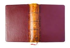 Το Hardcover ενός τρύού άνοιξε το καφετί βιβλίο Στοκ Εικόνες