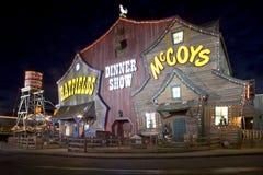 Το Hatfield & το γεύμα McCoy παρουσιάζουν ότι το θέατρο στο περιστέρι σφυρηλατεί, Τένεσι Στοκ εικόνα με δικαίωμα ελεύθερης χρήσης