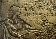 Το Hieroglyphics χαράσσει στην πέτρα Στοκ Εικόνες