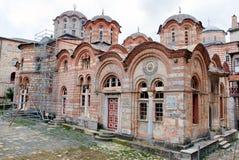 το hilandar ιερό μοναστήρι athos επικ&om Στοκ Εικόνες