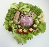 Το hippopotamus αποτελείται από το ρύζι Στοκ Εικόνες