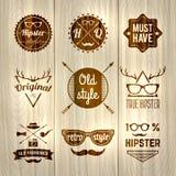 Το Hipster ονομάζει ξύλινο Στοκ Φωτογραφίες