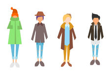 Το Hipsters φαίνεται απεικόνιση Στοκ Φωτογραφία