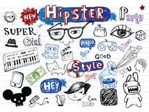 Το Hipsters doodle έθεσε Στοκ φωτογραφίες με δικαίωμα ελεύθερης χρήσης