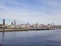 Το Hoboken συναντά την πόλη της Νέας Υόρκης Στοκ φωτογραφία με δικαίωμα ελεύθερης χρήσης