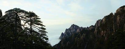 Τοπίο βουνών Huangshan Στοκ φωτογραφίες με δικαίωμα ελεύθερης χρήσης