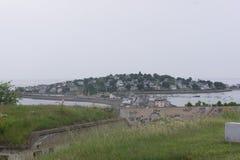 Το Hull, όπως βλέπει από το οχυρό σέβεται πάνω από το Hill τηλέγραφων Στοκ Φωτογραφίες
