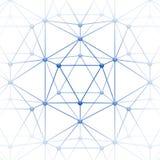 Το Icosahedron με το φραγμό συνδέει Στοκ Εικόνες