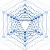 Το Icosahedron με το φραγμό συνδέει Στοκ εικόνες με δικαίωμα ελεύθερης χρήσης