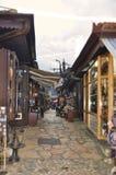 Το ija arÅ ¡ BaÅ ¡ 5$α  είναι παλαιό bazaar του Σαράγεβου ` s και το ιστορικό και πολιτιστικό κέντρο της πόλης στοκ εικόνα με δικαίωμα ελεύθερης χρήσης