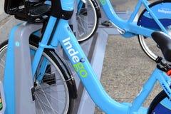 Το Indego, ένα πρόγραμμα μεριδίου ποδηλάτων σε Philly δίνει στους κατοίκους και στους τουρίστες μια περισσότερη επιλογή μεταφορών Στοκ φωτογραφία με δικαίωμα ελεύθερης χρήσης