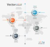 Το infographic διάνυσμα σχεδίου υπόδειξης ως προς το χρόνο μπορεί να χρησιμοποιηθεί για τη ροή της δουλειάς, διάγραμμα, ετήσια έκ Στοκ Φωτογραφίες