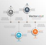 Το infographic διάνυσμα σχεδίου υπόδειξης ως προς το χρόνο μπορεί να χρησιμοποιηθεί για τη ροή της δουλειάς, διάγραμμα, ετήσια έκ Στοκ φωτογραφίες με δικαίωμα ελεύθερης χρήσης