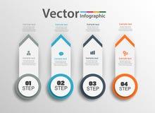 Το infographic σχέδιο Aarrow μπορεί να χρησιμοποιηθεί για το σχεδιάγραμμα ροής της δουλειάς, διάγραμμα, ετήσια έκθεση, σχέδιο Ιστ Στοκ Εικόνες