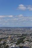 Το Invalides με τα σύννεφα Στοκ Εικόνα