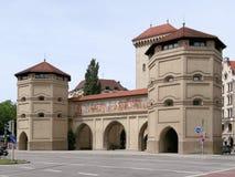 Το Isartor που βρίσκεται στο Isartorplatz στο Μόναχο, Γερμανία Στοκ εικόνα με δικαίωμα ελεύθερης χρήσης