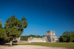 το itza Μεξικό Ναός των ιαγουάρων Στοκ Εικόνες