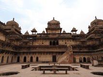 Το Jehangir Mahal, οχυρό Orchha, Religia Hinduism, αρχαία αρχιτεκτονική, Orchha, Madhya Pradesh, Ινδία στοκ φωτογραφίες
