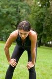το jogging πρόσωπο χαλαρώνει κο Στοκ Εικόνες