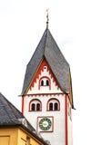 Το Johanniskirche - Romanesque 11ος αιώνας πύργων σε Nassau ένα der Lahn, Γερμανία Στοκ φωτογραφίες με δικαίωμα ελεύθερης χρήσης