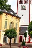 Το Johanniskirche - Romanesque 11ος αιώνας πύργων σε Nassau ένα der Lahn, Γερμανία Στοκ Εικόνες