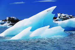Το Jokulsarlon είναι μια μεγάλη παγετώδης λίμνη στην Ισλανδία στοκ φωτογραφία