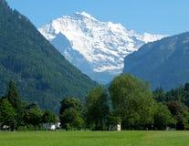 το jungfrau επικολλά την Ελβετί Στοκ Εικόνες