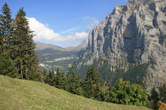 το jungfrau η όψη της Ελβετίας Στοκ Φωτογραφίες