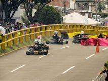 Το Karts και απολαμβάνει το gogo φλυτζανιών στοκ εικόνα