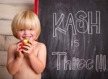 Το Kash γυρίζει τρία χρονών στοκ φωτογραφία